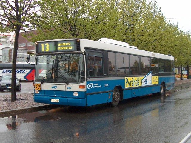 HelB 9902: XIR-716, Volvo B10L CNG, Carrus City U, vm. 1999. Katajanokka, 3.6.2006.